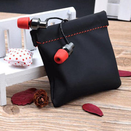 headphone bag pouch case Canada - Portable Earphone Case PU Leather Storage Bag Waterproof Headset Headphone Carrying Pouch Earphone Accessory Protector