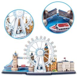 enlighten brick toys Australia - Classic Jigsaw City The London Eye Big Ben Puzzle Enlighten Construction Brick Educational Toys Scale Style Models Sets World Building Block
