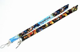 phone holder lanyard Australia - 200 PCS Kingdom Hearts key lanyards id badge holder keychain straps for mobile phone Wholesale Free Shipping