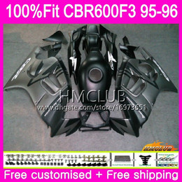1996 cbr green black fairing Australia - 100%Fit Injection For HONDA CBR600RR CBR 600F3 CBR 600 F3 95 96 77HM.22 Flat grey blk CBR600FS CBR600 F3 FS CBR600F3 1995 1996 OEM Fairing