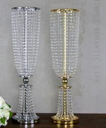 $enCountryForm.capitalKeyWord Australia - wedding supply Metal Crystal Bead Banquet Table Centerpiece silver gold color party decorate Chandelier