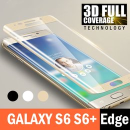 S6 Edge Screen Case Australia - For Samsung Galaxy S6 Edge Plus Full Cover 9H Case Friendly Tempered Glass Phone Screen Protector