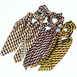 $enCountryForm.capitalKeyWord UK - 1 pc Fashion Women Lovely Printed Ribbon Hairband Scrunchies Cute Ponytail Holder Elegant Hair Tie Accessories