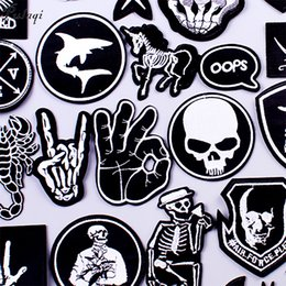 $enCountryForm.capitalKeyWord Australia - Pulaqi Stripe Rock Patch Band DIY Embroidered Patches for Clothes Patch Iron On Patches Clothing Punk Badges For Clothes Sticker