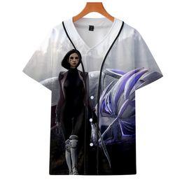$enCountryForm.capitalKeyWord UK - BTS drop shopping 2019 3D Alita Battle Angel Short sleeve baseball uniform Men Women summer Casual Harajuku jacket Clothes