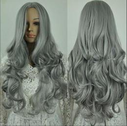 $enCountryForm.capitalKeyWord Australia - WIG free shipping X17 dark silver grey wavy women cosplay animation wig