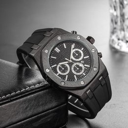 Cheap Clock Price NZ - Wholesale Cheap Price Mens Sport Wrist Watch 45mm Quartz Movement Male Time Clock Watch with Rubber Band offshore