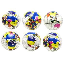 Globe Cartoons Australia - 6pcs Inflatable Toys Globe Ball Funny Water Fun Play Summer Beach Ball Party Favor Pool Balls for Children Kids Toddler