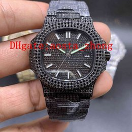 AutomAtic christmAs light online shopping - All Ice Diamond Deluxe Watch Fashion Style Automatic Machinery L Stainless Steel Super Night Light Diameter mm Free Freight