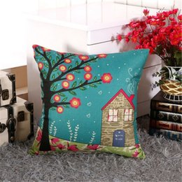 Logo Promotional Gift Australia - New Cotton Linen Series Pillow Covers 16 Styles Company Promotional Advertising Gifts Can Be Printed Logo Free Customized Any Pattern