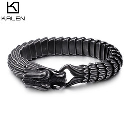 Chinese Zodiac Charms Australia - Chinese Zodiac Loong Dragon Scale Pattern Arrogance Male Fund Bracelet Stainless Steel Keel Hand Decorate Designer Ringe Hip Hop Jewelry