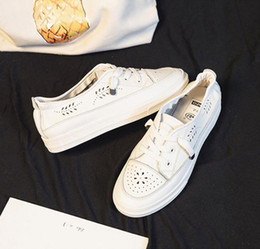 Shallow mouthed canvaS ShoeS online shopping - Summer breathable white shoe women s shoes summer new wild students shallow mouth canvas shoes flat white shoes