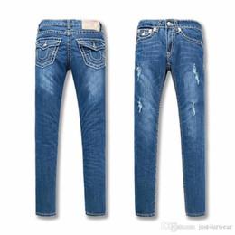 Опт Женские рваные дизайнерские джинсы Модные тонкие сексуальные длинные брюки с карандашом Бренд True Брюки Женские джинсовые брюки с длинными рукавами