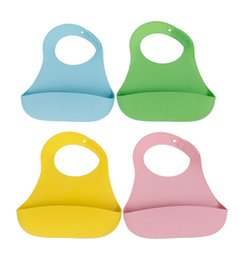 Wholesale Cute Baby Bibs Feeding Saliva Waterproof Safe Silicone Neck Catch Bid keep your baby clean Table Napkin