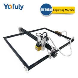 Vente en gros 15W Focus fixe-Focus 500MW / 2500MW / 5500MW Laser 6550 CNC Engraver Machine de coupe MachineIY