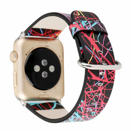 Space Watch Australia - for apple watch bands series 42mm Dream Space Leather Watch Band Unique Beauty of Line Soft Breathable Wrist Strap with 38mm for Boys Girls