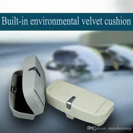 $enCountryForm.capitalKeyWord Australia - Multifunction Car Glasses Case Sun Visor with Card Holder Magnetic for bill clamps Sunglasses Box with Card Slots ABS plastic glasses box