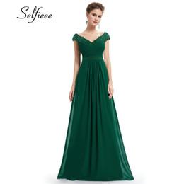 $enCountryForm.capitalKeyWord UK - Wedding Party Gowns Plus Size Ladies Lace Dresses Women's Long Elegant V-neck Sleeveless A-line Chiffon Formal Dress Vestidos J190709