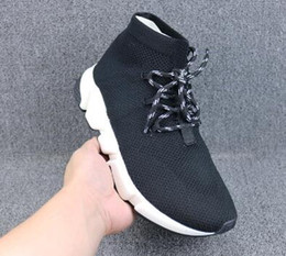 Box training online shopping - Black bandage socks shoe Stretch Mesh High Sneake Sneakers new mens Camping Hiking Boots Training Sneakers Runners Sports Running shoes