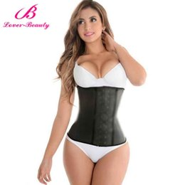 plus size steel boning corset Australia - Lover Beauty Corset Plus Size gainel latex affinant la taille Latex Waist Steel Boned Waist Trainer Corsets and Bustiers MX200506