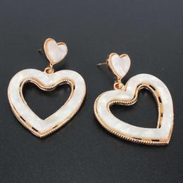 Leopard print jeweLry online shopping - Bohemia Resin Heart Acrylic Dangle Earrings for Women Ethnic Leopard Print Statement Earrings Wedding Jewelry Accessories Gift
