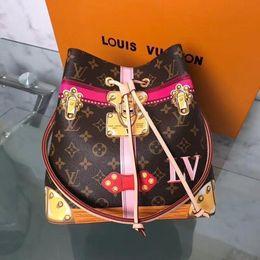 $enCountryForm.capitalKeyWord Australia - New Neonoe Classic Old Flower Padlock Silk Screen Pattern Handbag M40649 Top Oxidized Real Leather Iconic Bags Shoulder Bag Totes Bags