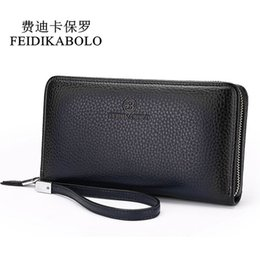 Brown Bag Price Australia - Fashion Luxury Male Leather Purse Men's Clutch Wallets Handy Bags Business Carteras Mujer Wallets Men Black Brown Dollar Price Y19052104