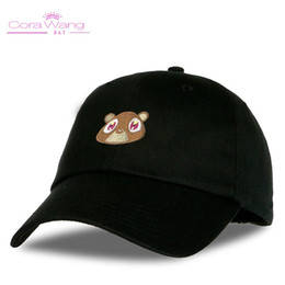 2bb11864d3acc Cora Wang Snapback men s hats Baby Bear Embroidery Baseball Caps fitted cap  Solid Color Pink Black women hat