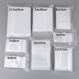 TransparenT food bag online shopping - 100pcs Small Zip Lock Plastic Bags Reclosable Transparent Jewelry Food Storage Bag Kitchen Package Bag Clear Ziplock Bag Price