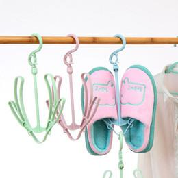 $enCountryForm.capitalKeyWord Australia - Creative Balcony Windproof Shoes Drying Rack Multi-functional Rotary Hanging Shoes Rack Double Hook Drying Rack