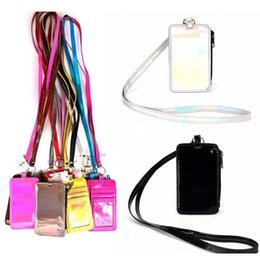 Lanyards car online shopping - Pink Lanyard Neck Strap Card Holder Name Credit Card Bag Pink ID card car holder lanyard