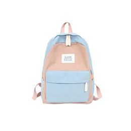 Discount good quality girls school bags - good quality 2019 Fashion Backpack Schoolbag Patchwork Color Zipper Teenage School Rucksacks For Girls Teenager Women Tr