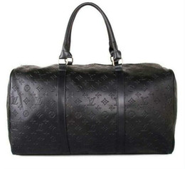 Großhandel 2019 55 cm große kapazität frauen männer pu-leder reisetaschen klassische heißer verkauf hohe qualität männer duffel gepäck keepall