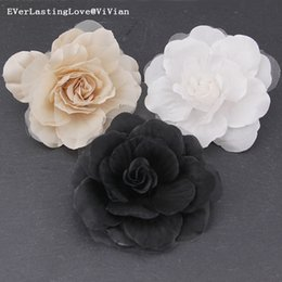 $enCountryForm.capitalKeyWord Australia - ELLV Fashion Women Pin Vintage Handmade silk organza Brooches Jewelry Badge Rose Flowers Brooch Pins for brooches accessories