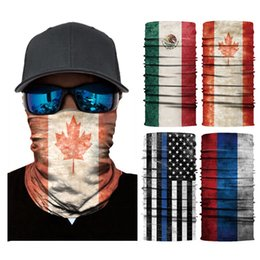 $enCountryForm.capitalKeyWord Australia - High Quality 3D National flag Face Mask Half Face Bandana Tube Scarf Sports Masks Multifunctional Ride Outdoor Magic Scarf DHL Free Shipping