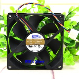 radiators wholesale 2019 - New Radiator CPU Cooler Fan For DS09225B12U DC 12V 0.56A P178 P080 P083 90*90*25mm 4 Pin Double Ball Temperature Control