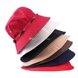 sports fisherman 2019 - Fashion Unisex Cotton Bucket Hat Solid Color 2019 Summer Outdoor Travel Beach Fisherman Sun Cap Hunting Sport Hats C6519