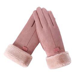 $enCountryForm.capitalKeyWord UK - New Fashion Women Cute Gloves Furry Warm Mitts Full Finger Mittens Girls Outdoor Sport Female Screen Luvas Gloves