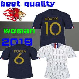 b1cc17c1d79 2019 France lady GRIEZMANN women home Soccer Jersey world cup MBAPPE away  female shirt POGBA KANTE girl Football 19 20 ABILY