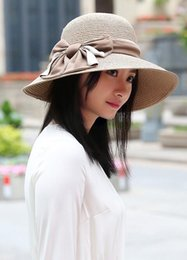 Sun Blocks Australia - Sell the new spring and summer straw hat lady go shopping outdoors go on a outing big brim sun block beach hat