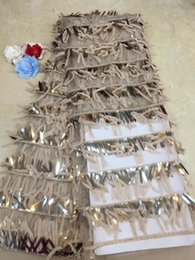 $enCountryForm.capitalKeyWord Australia - Best selling nigerian lace High quality french tulle lace with Sequin fabric 2019 African mesh lace fabric for wedding dress.