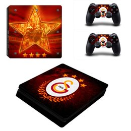 football chocolate UK - Galatasaray 1905 Football Team PS4 Slim Skin Sticker For Sony PlayStation 4 Console and Controllers Decal PS4 Slim Sticker Vinyl
