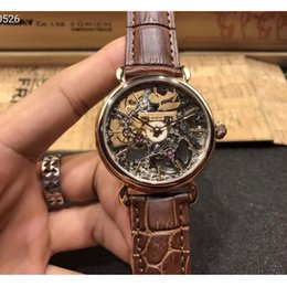 watches luxury skeleton man Australia - automatic skeleton watch man luxury mens designer mens watches sapphire mechanical movement wristwatches real leather band montre de luxe