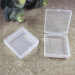 square display case NZ - Transparent Plastic Storage Box Clear Square Multipurpose Display Case Plastic Jewelry Storage Boxes Fast Shipping NO302