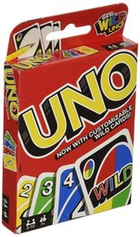 China UNO Card Games Wild DOS Flip Edition Board Game 2-10 Players Gathering Game Party Fun Entertainment suppliers