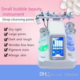 Vente en gros 6 en 1 nouvelle microdermabrasion hydroélectrique Petite bulle de peau Spa nettoyage beauté instrument hydro machine de nettoyage facial pour nettoyage en profondeur de la peau