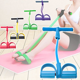 Pedal exerciser online shopping - Dynamic Pedal Bodybuilding Expander Latex Tube Foot Elastic Pull Rope Slimming Indoor Sports Equipment B2Cshop