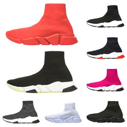 $enCountryForm.capitalKeyWord Australia - Cheap luxury sneakers speed trainer designer men women casual shoes black white green glitter red fashion mens sock shoe runner size 36-45