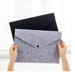 a4 file holders NZ - Felt Bag A4 Paper File Holder Folder Filing Products Business Document Organizer Simple Snap Storage Laptop Briefcase Office School Supplies