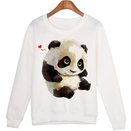 panda woman costume Australia - Cute Animal Sweatshirt Sudaderas Mujer Panda Printed Harajuku Hoodies Kwaii Moleton Pullovers Wmh29 New Hot Fashion Costume